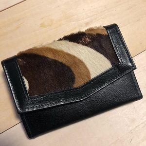 Vintage cowhide coin wallet
